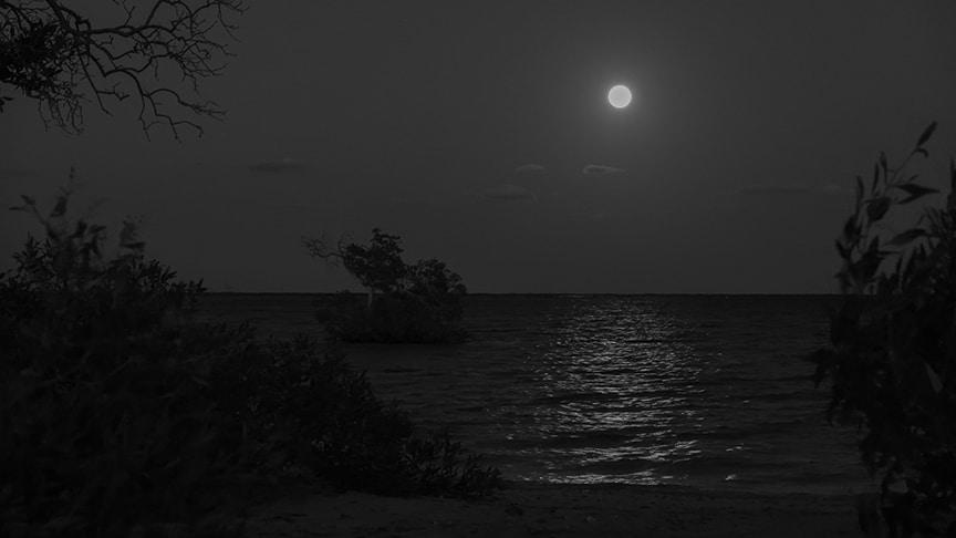 Mondaufgang über der Bucht Reiseblog Ägypten
