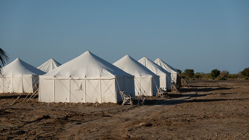 Royal Tents im Wadi Lahami an neuem Ort Reiseblog Ägypten Tag 1