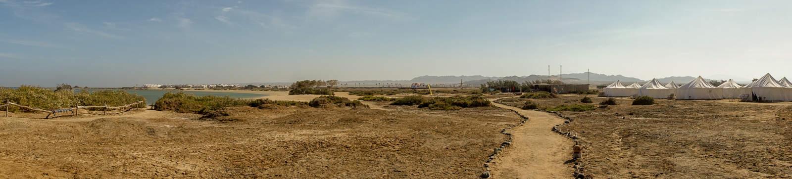 Panorama mit Zelten