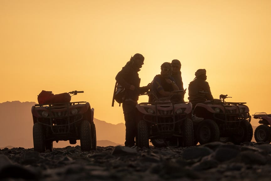 Quadtour in front of Sunset